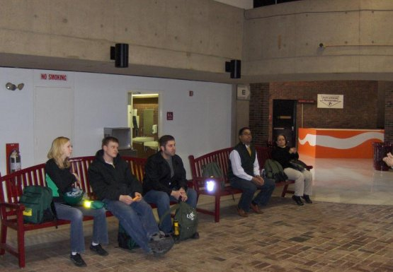 CERT members wait for their turn